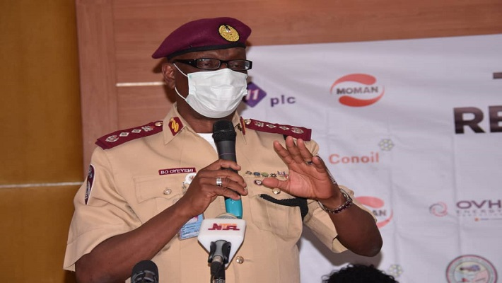 Boboye Oyeyemi, Road Safety Corp Marshal. [PHOTO CREDIT: Official Twitter handle of FRSC]