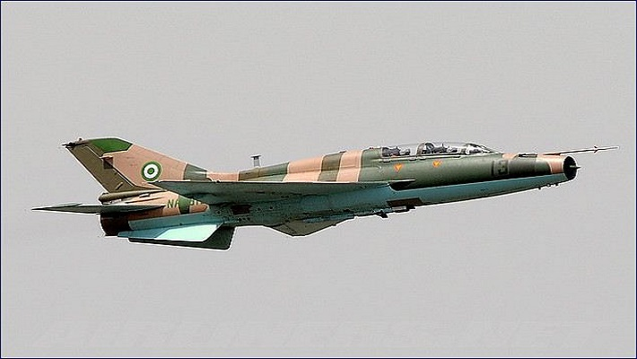 Nigerian Air Force fighter jets used to illustrate the story.