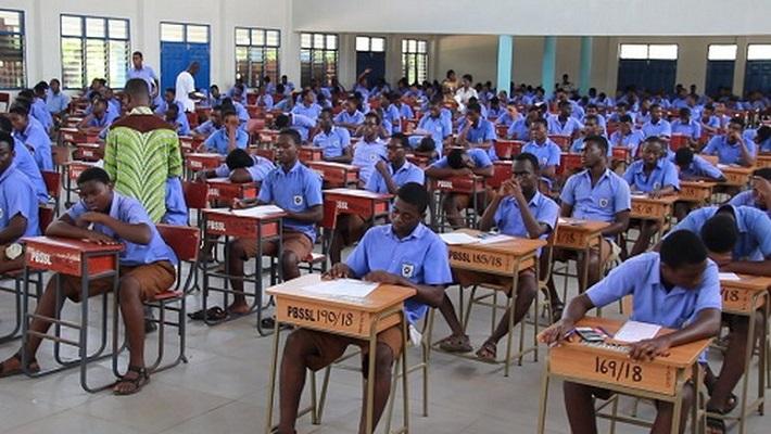 Students writing WAEC
