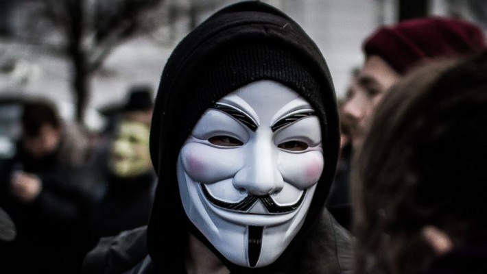 Notorious hacker collective Anonymous speaking on #EndSARS. [CREDIT: ABC News]