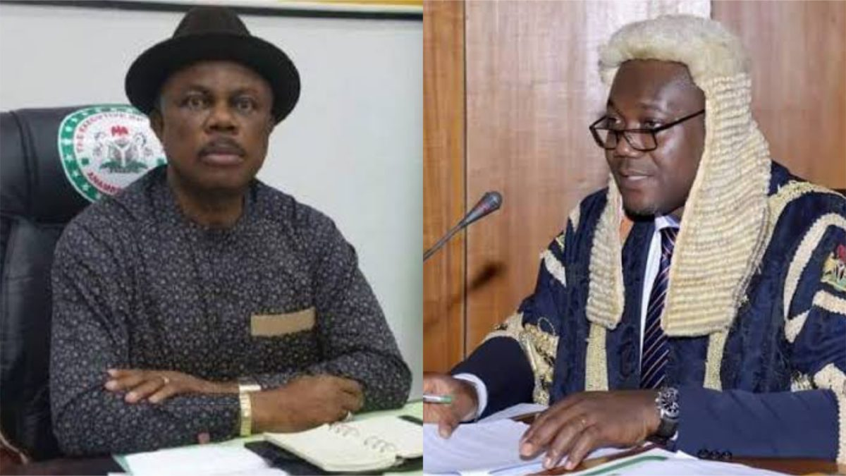 Willie Obiano and Uche Okafor