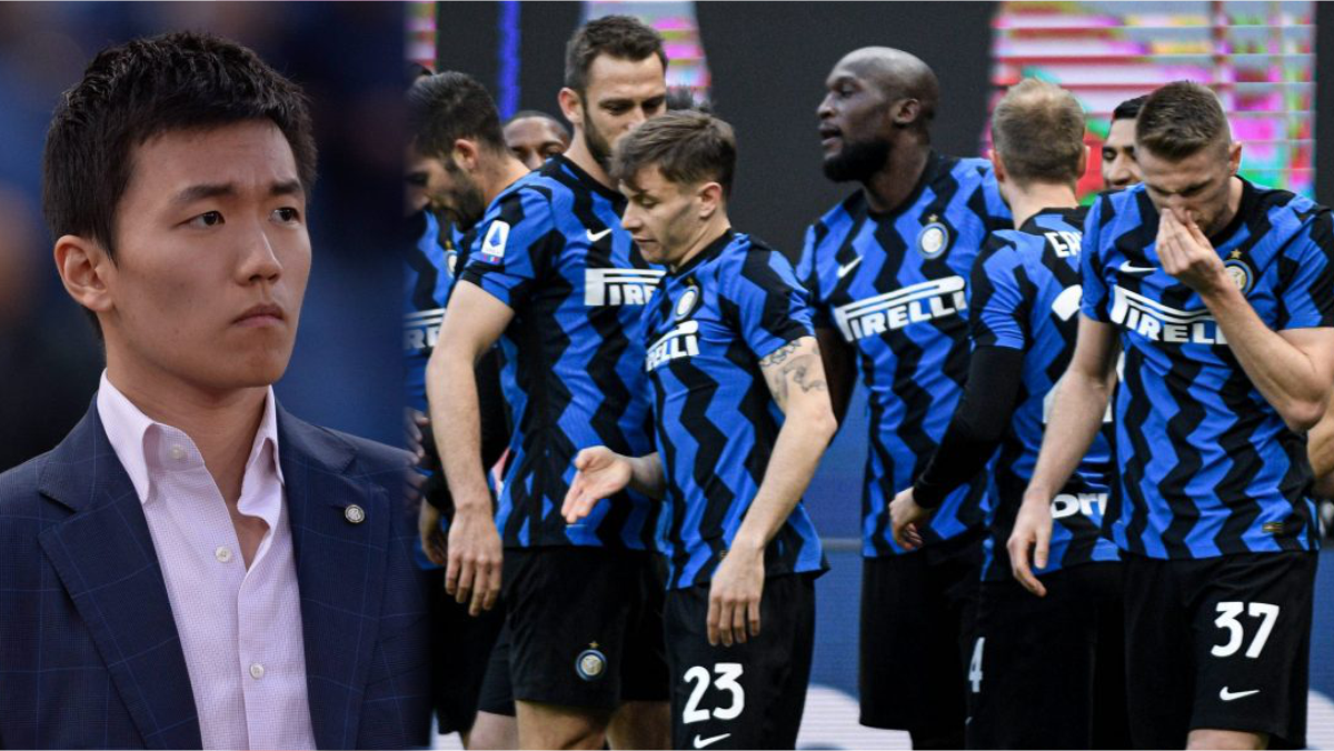 A composite of Inter Milan President, Steven Zhang and Inter Milan players used to illustrate the story