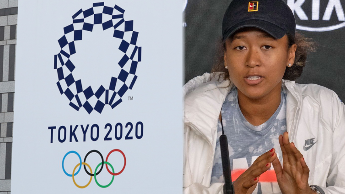 A composite of Tokyo 2020 logo and Naomi Osaka used to illustrate the story