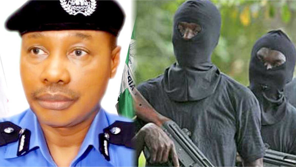A composite of Usman Baba Alkali and gunmen used to illustrate the story