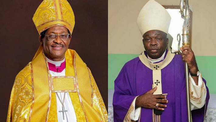 A composite of heads of Anglican and Catholic in Nigeria
