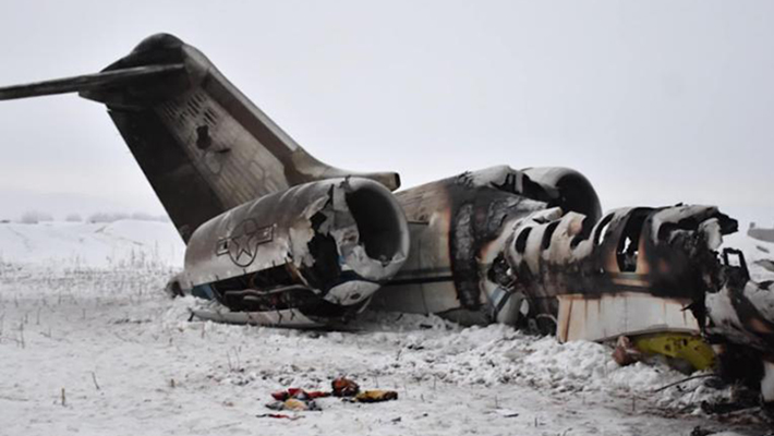 A crashed plane used to illustrate this story (Credit: CNN)