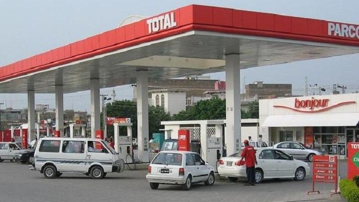 A filling station dispensing fuel