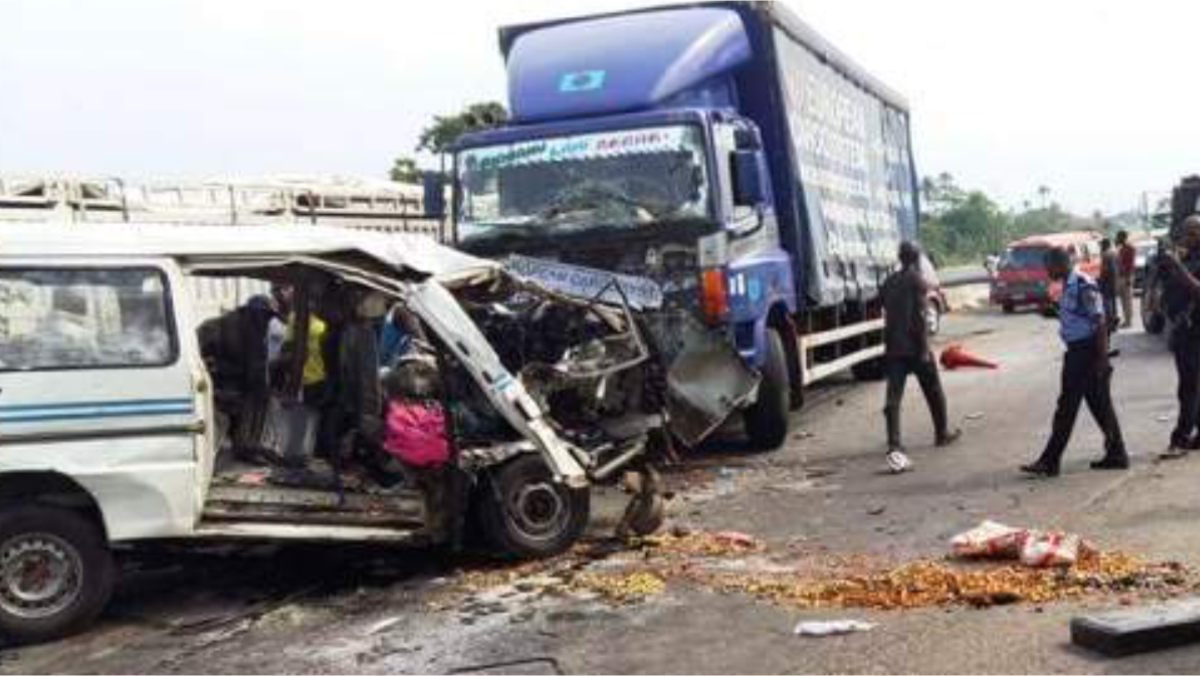 A road accident scene used to illustrate the story