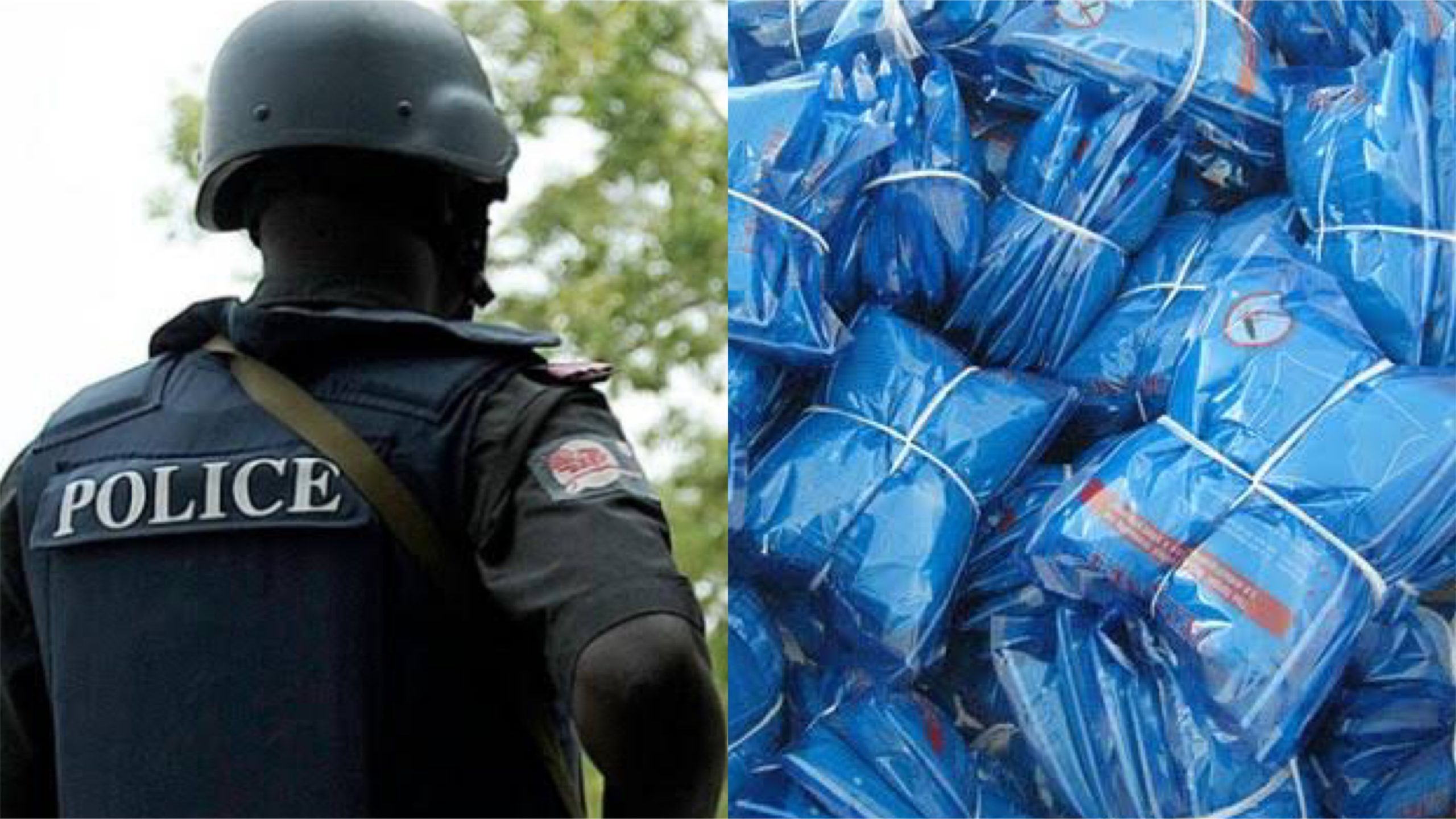 Police and mosquito nets