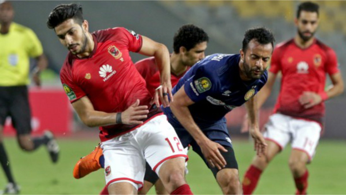 Al Ahly and Esperance players