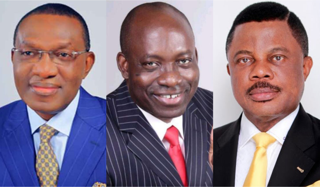 Andy Uba, Charles Soludo, and Anambra State Governor, Willie Obiano