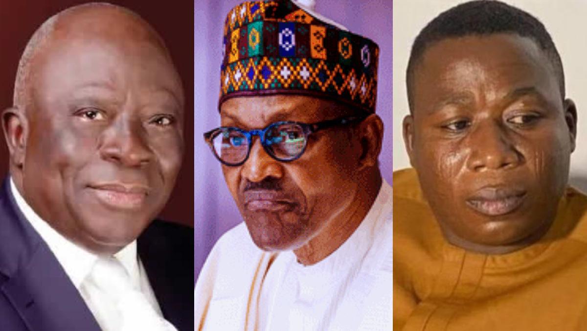 Ayo Adebanjo, President Muhammadu Buhari, and Sunday Igboho