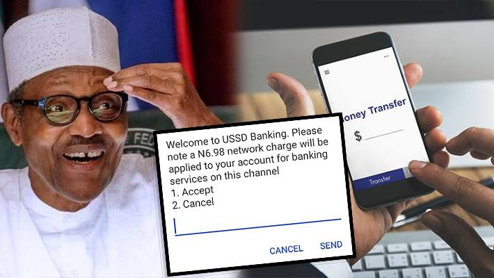 Buhari and money transfer screenshot