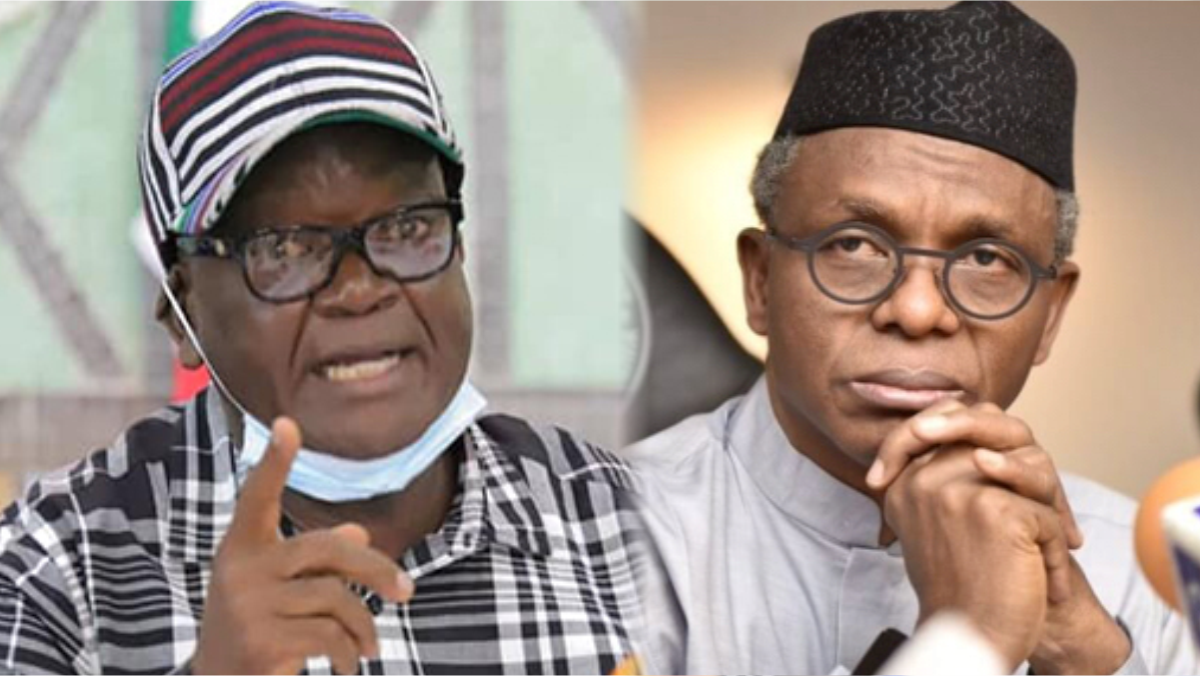 Benue State Governor, Samuel Ortom and Kaduna State Governor, Nasir El-Rufai