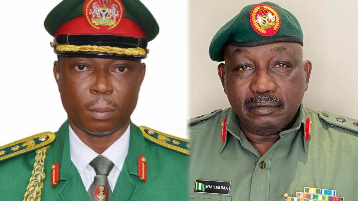 Brigadier-General Onyema Nwachukwu and Brigadier-General Mohammed Yerima
