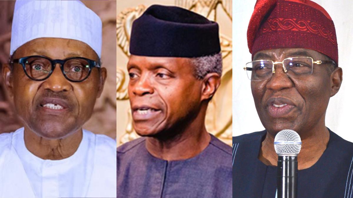 Buhari, Osinbajo, and Gbenga Daniel