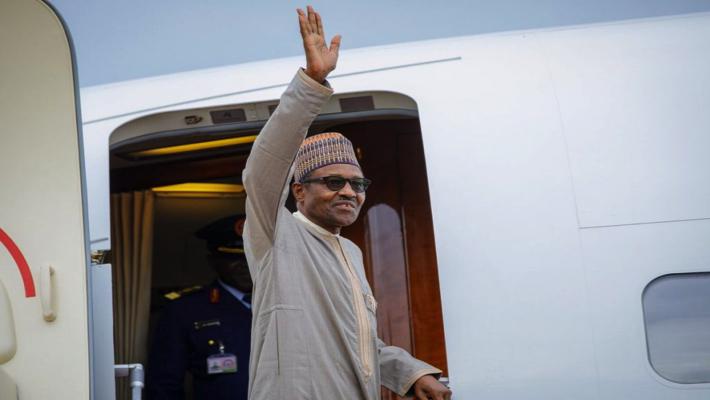 Buhari waving