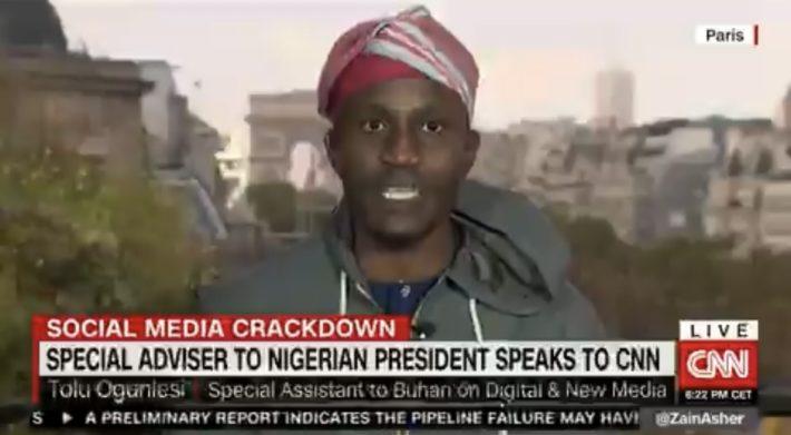 Tolu Ogunlesi on CNN