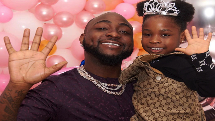 Davido and daughter Imade