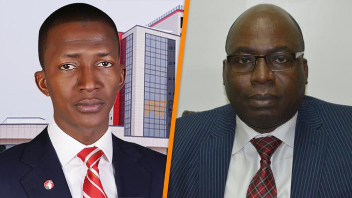 EFCC Chairman Abdulrasheed Bawa, and ICPC Chariman Prof. Bolaji Owasanoye