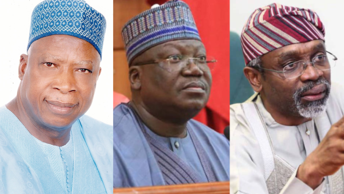 Ex- Nasarawa Governor, Abdullahi Adamu, Senate President Ahmad Lawan, and Speaker of House of Reps, Femi Gbajabiamila