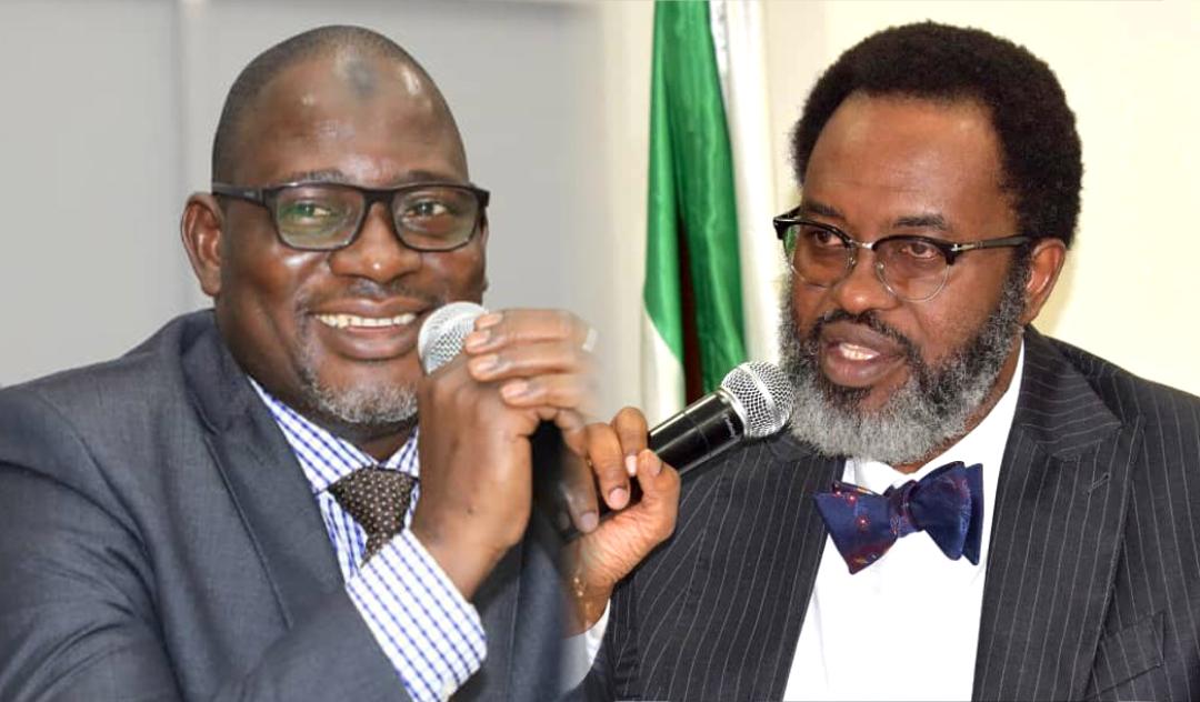 FIRS chairman, Muhammad M. Nami and Attorney General of Lagos State, Moyosore Onigbanjo