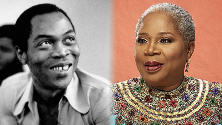 Fela Kuti and Onyeka Onwenu