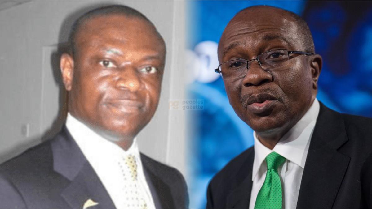 Francis Atuche and CBN Governor, Godwin Emefiele
