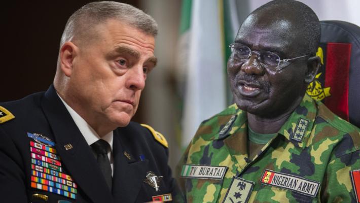 Gen. Mark A. Milley and Gen. Tukur Buratai