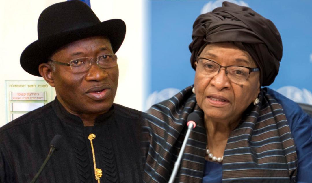 Goodluck Jonathan and Ellen Johnson-Sirleaf