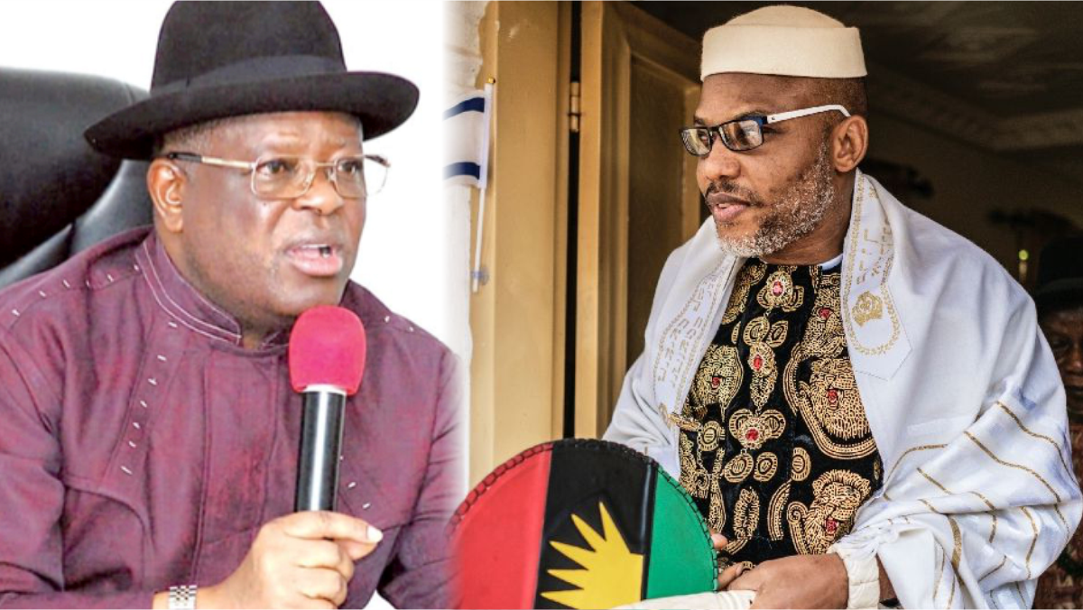 Governor David Umahi and Nnamdi Kanu