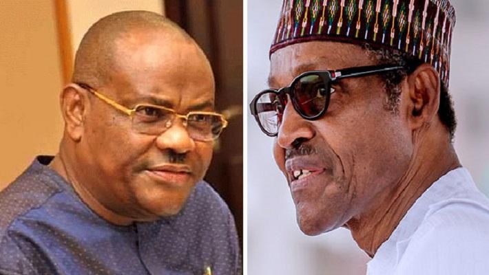 Governor Wike and president Buhari