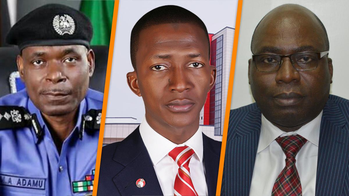 IGP Mohammed Adamu, EFCC Chairman Abdulrasheed Bawa, and ICPC Chariman Prof. Bolaji Owasanoye