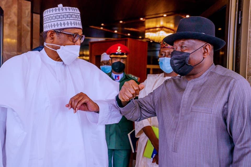 President Buhari and former President Jonathan