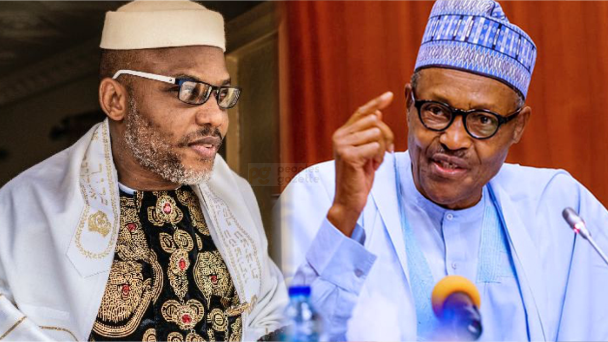 IPOB Leader, Nnamdi Kanu and President Muhammadu Buhari