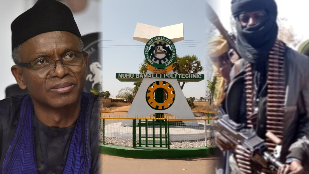 Kaduna State Governor Nasir El-Rufai, Nuhu Bamalli Polytechnic, Zaria, and Bandits