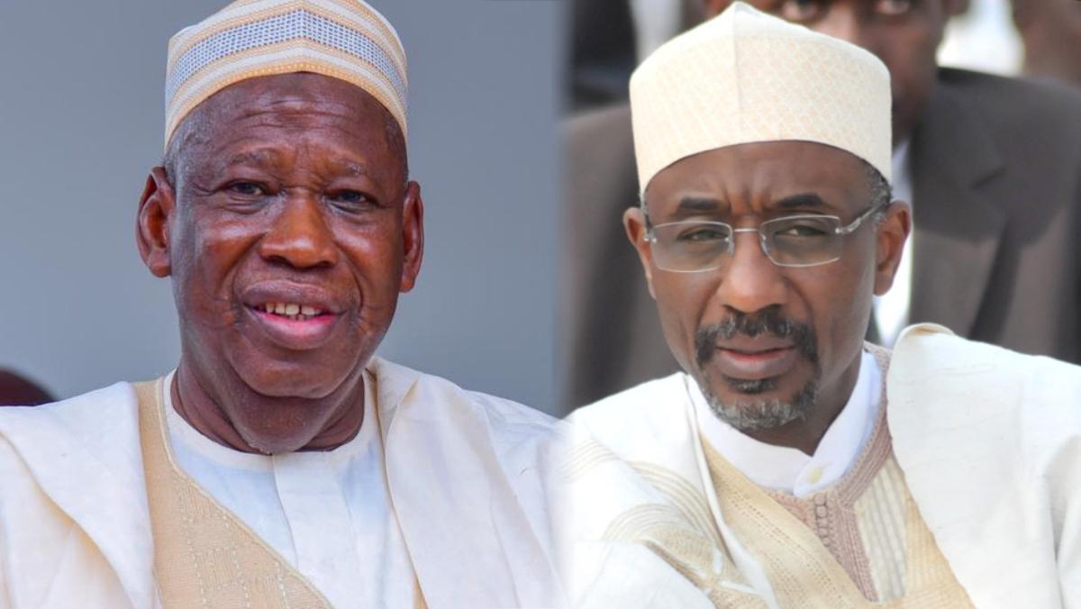 Kano State governor, Abdullahi Ganduje and Sanusi Lamido Sanusi