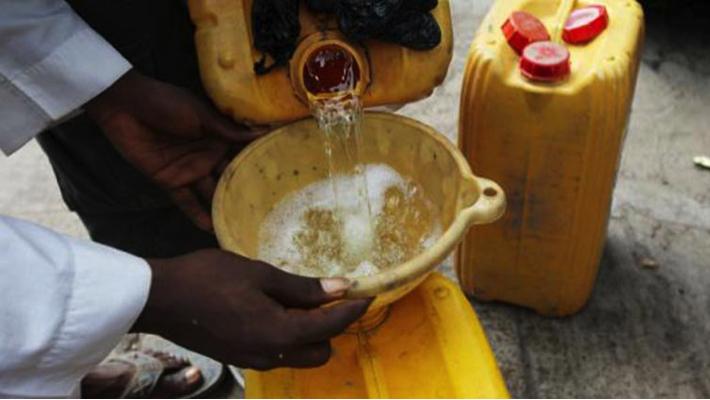A kerosene seller