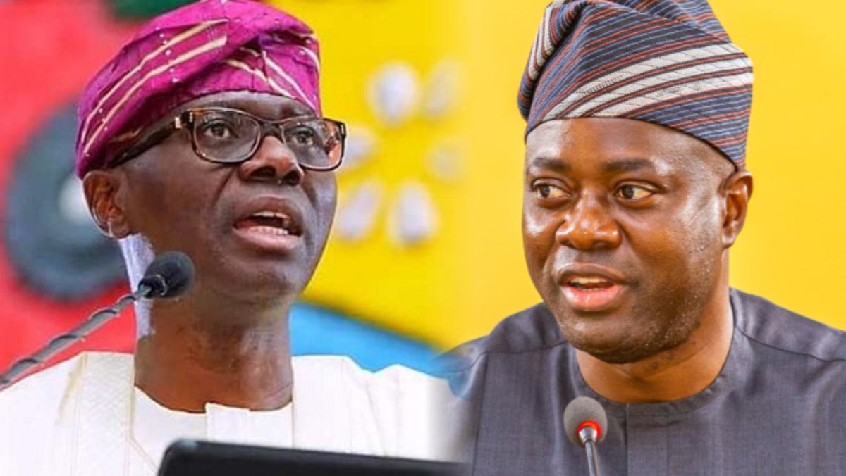 Lagos State governor, Babajide Sanwo-Olu and Oyo State governor, Seyi Makinde