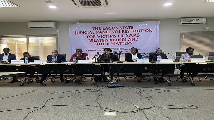 The Lagos panel of inquiry on #EndSARS. [CREDIT: Bella Naija]