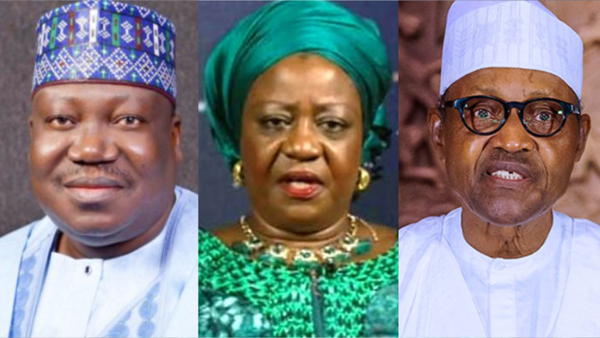 President of the Nigerian Senate, Ahmad Lawan, Lauretta Onochie, President Muhammadu Buhari