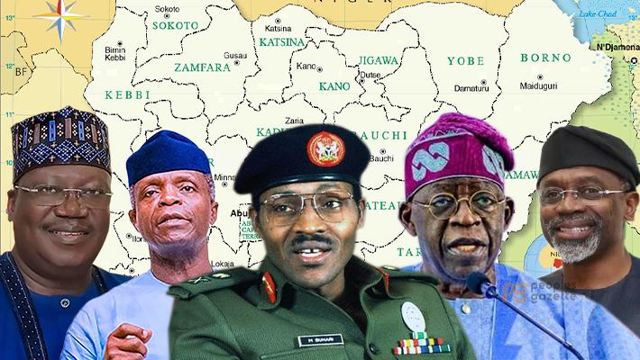 Lawan, Osibanjo, Buhari, Tinubu and Gbaja