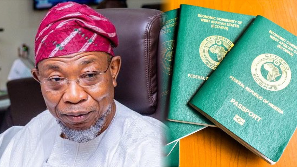 Minister of Interior Rauf Aregbesola and Nigerian International Passport