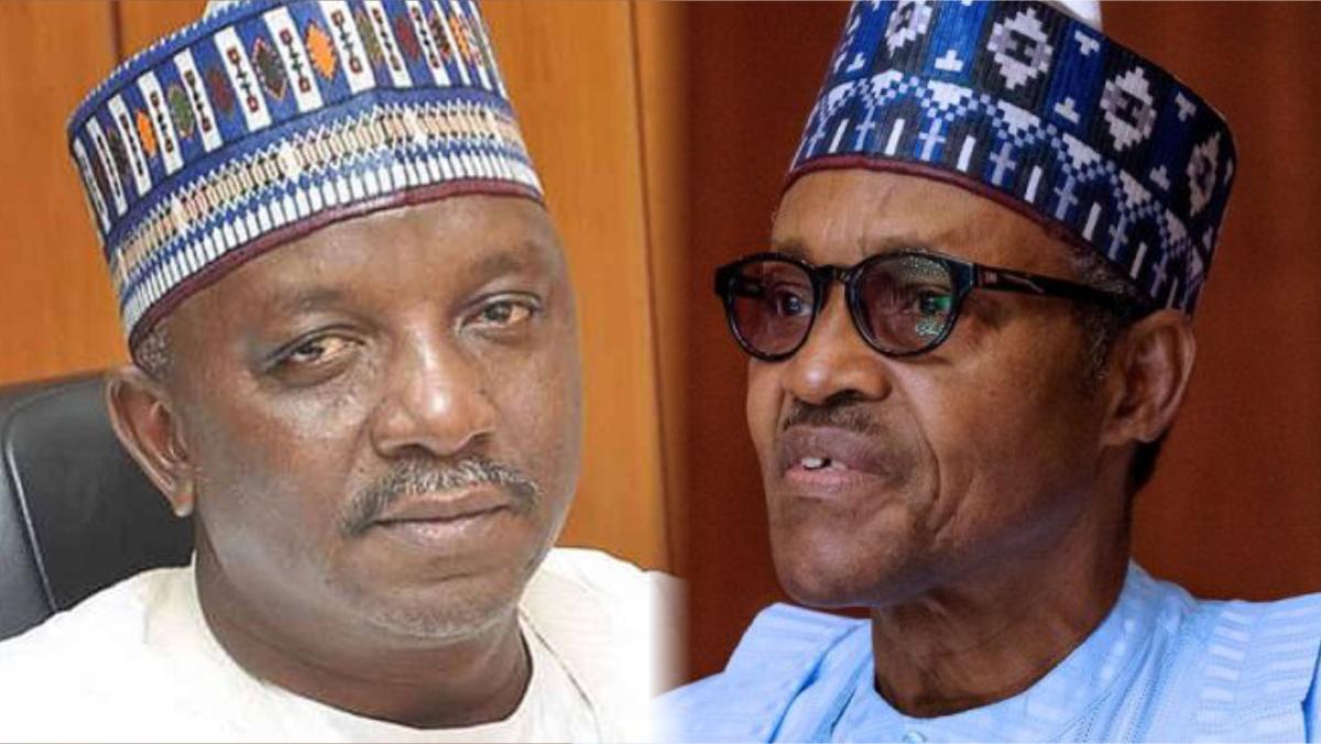 Minister of Power Sale Mamman and President Muhammadu Buhari