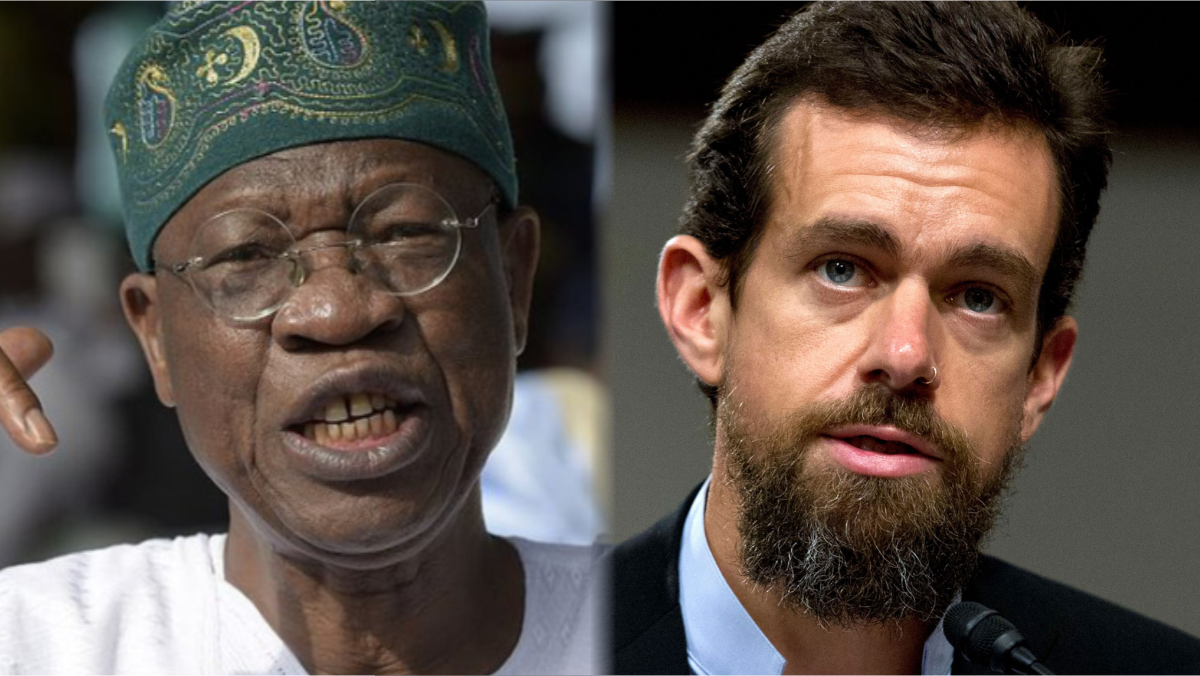 Minister of information and culture, Lai Mohammed and Twitter CEO, Jack Dorsey