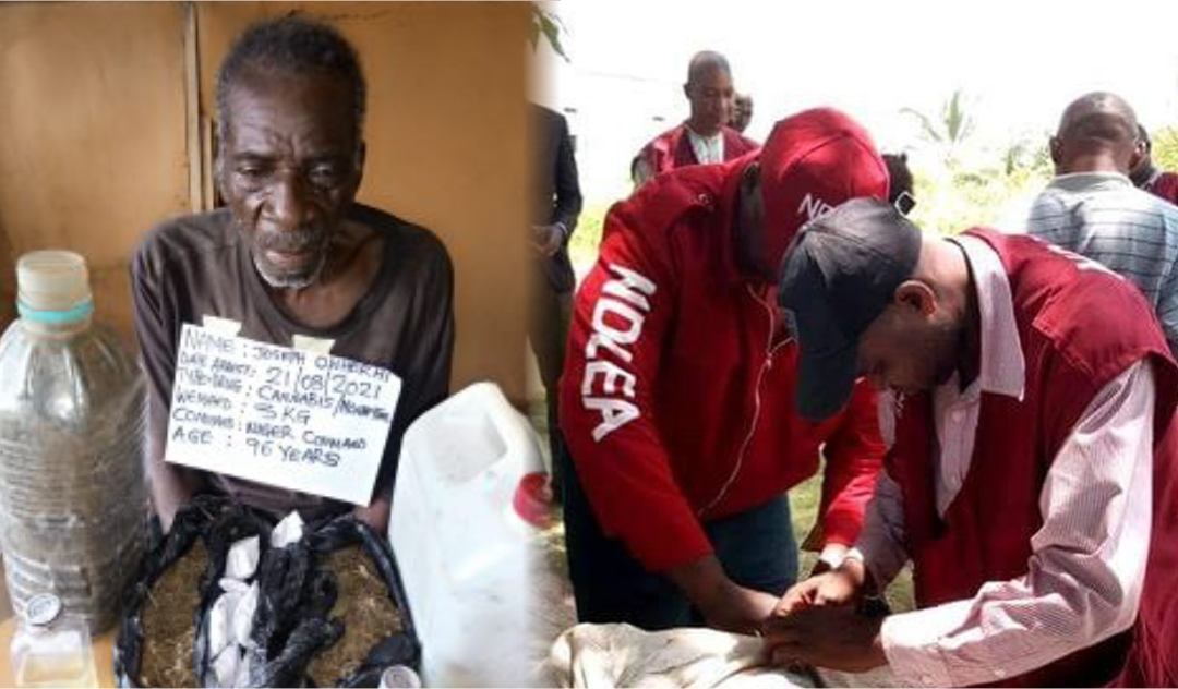 NDLEA nabs 96-year-old retired soldier who lives off selling 'skunk'