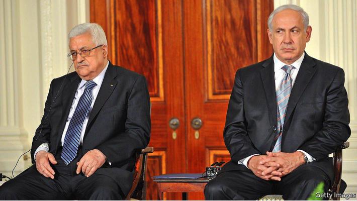 Mahmoud Abbas and Benjamin Netanyahu