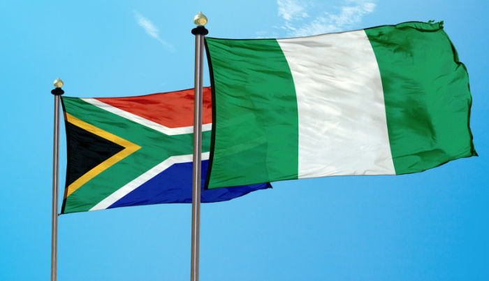 Nigeria and South African flags