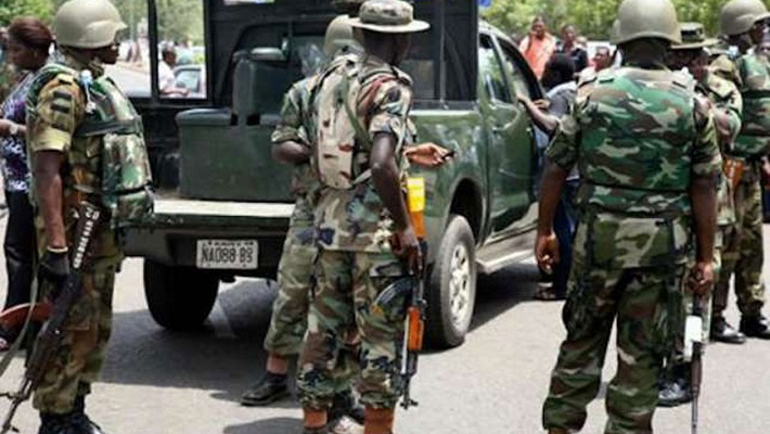 Nigerian army used to illustrate the story