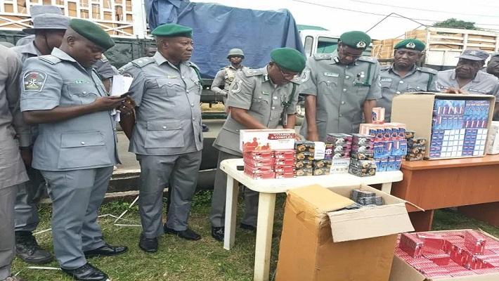 Nigerian Customs Service seize contraband